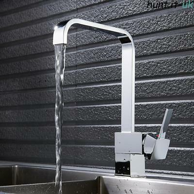 Modern Brass Kitchen Sink Taps Single Lever Swivel Spout  Basin Mixer Tap Faucet