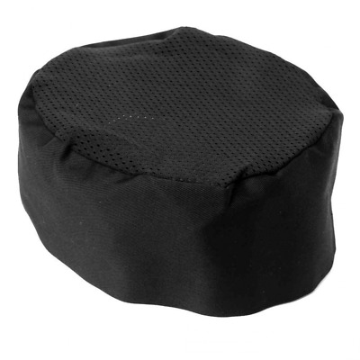 IROCH Chefs Hat Breathable Mesh Top Skull Cap,Chat Chef Hat Black Adjustable Siz
