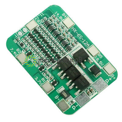 6S 15A BMS Protection PCB Board For Li-ion Lithium 18650 Battery Cells 6 Packs S