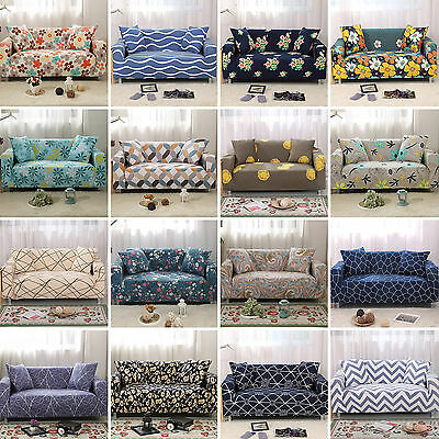 2019Stretch Sofa 1 2 3 4 Seater Protector Washable Couch Cover Slipcover L Shape