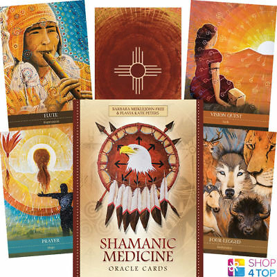 Shamanic Medicine Oracle Cards Deck Esoteric Fortune Telling Blue Angel New