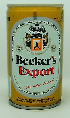 Beckers Export 33 cl  steel beer can from Germany