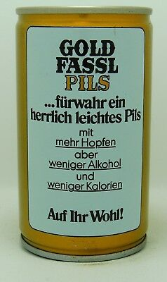 Gold Fassl Pils 33 cl  steel beer can from Austria var 2