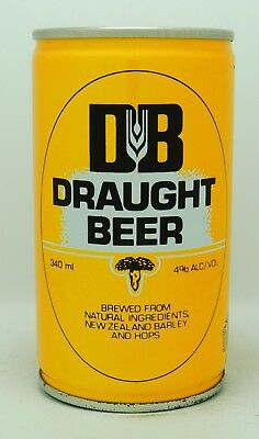 Draught Beer 34 cl  steel beer can from New Zealand var 2