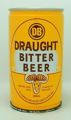 Draught Bitter Beer 34 cl  steel beer can from New Zealand var 1