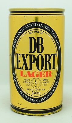 DB Export Lager 34 cl  steel beer can from New Zealand