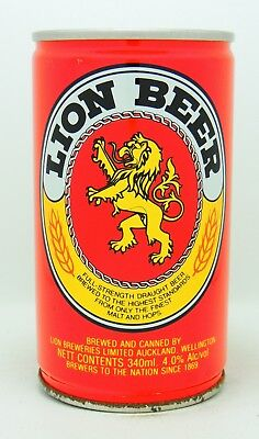 Lion Beer 34 cl  steel beer can from New Zealand