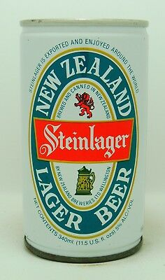 Steinlager 34 cl  steel beer can from New Zealand var 1