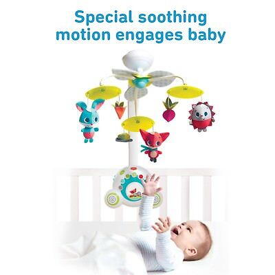 Meadow Days Soothe 'n Groove Mobile, Baby Musical Nursery Mobile Tiny Love
