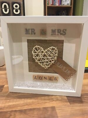 Personalised Box Picture Frame Wedding Dayanniversary Gift