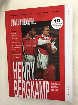 Mundial Magazine Issue 13 March 2018 Henry & Bergkamp Iconic Duo Pub Teams Ginol