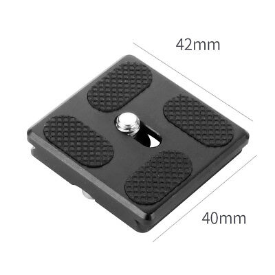 """Quick Release Plate PU40 w/ 1/4"""" Screw for Camera Gimbal Tripod Ball Head Clamp"""