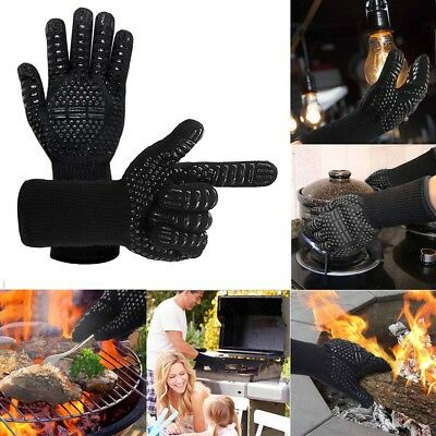 ✔ Heat Proof Resistant BBQ Gloves for Welding Baking Grilling Cooking Oven Mitts