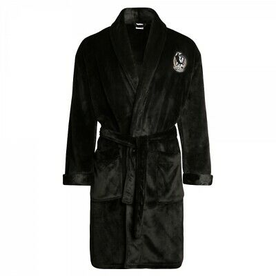 Collingwood Magpies Adult AFL Winter Poly Fleece Dressing Gown Robe