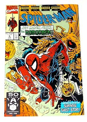 Marvel Comics Spider-Man #6 1991 Hobgoblin Todd Mcfarlane Art/writer 8.5/9.0