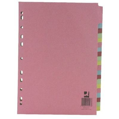 Q-Connect A4 Subject Divider 20 Part , Ideal for office filing [KF01517]