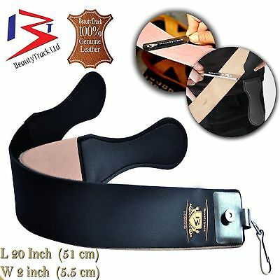 BeautyTrack Genuine Leather Sharpening Strop Strap Classic Shaving Razor Belt UK