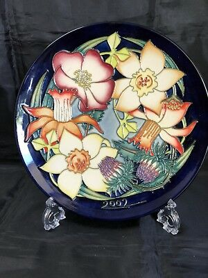 Moorcroft Golden Jubilee Plate 2002 Ltd Edn First Quality In Box Mint Condition