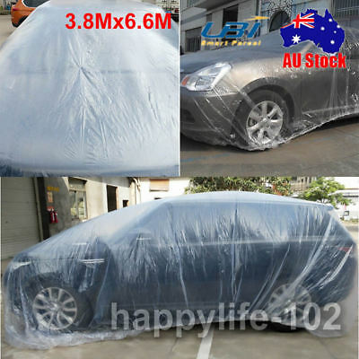 3.8x6.6M Universal Full-size Disposable Car Cover Water Resistant UV Protection