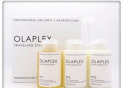 ORIGINAL Olaplex Traveling Stylist Kit - 1 x NO 1 + 2 x NO 2 , Je 100ml NAGELNEU