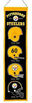 Pittsburgh Steelers Wool Heritage Banner [NEW] NFL Sign Wall Man Cave Flag