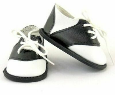 "Black White Saddle Oxford '50s Shoes Doll Clothes Fits 18"" American Girl AG"