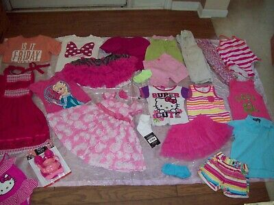 HuGe 40-Piece Lot Girl Clothes Size 4T, 5T, 6/6X Summer & Winter