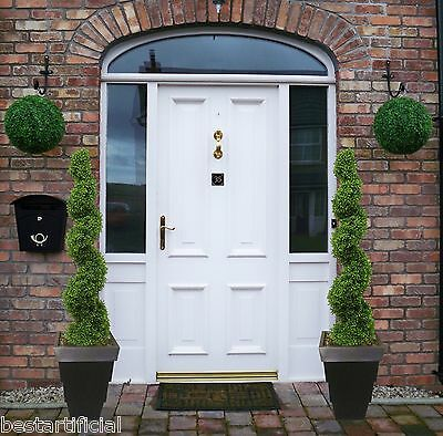 2 Best Artificial 4ft 120cm Topiary SPIRAL Boxwood Buxus TREES Outdoor Plant New