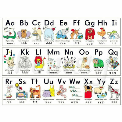 50cm*33cm Alphabet Poster Learn My ABC Wall Chart Fun Children's Educational