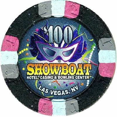 Obsolete $100 Casino Chip From SHOWBOAT CASINO-Las Vegas-V9752-Closed 2000