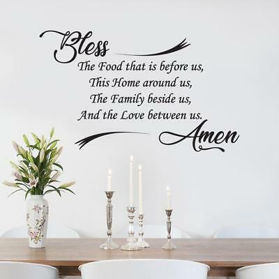 bless the food kitchen amen wall sticker decal lettering decor art