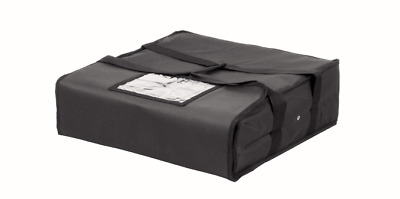 """Pizza Delivery Bag Black Thermal Insulated 20""""x 20"""" NYLON holds 5 16"""" Pizzas"""
