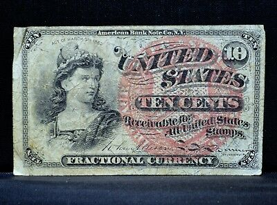 10C Fractional Currency ✪ Vf Very Fine ✪ 4Th Issue Cent L@@k Now D21 ◢Trusted◣