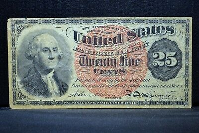 25C Fractional Currency ✪ Vf Very Fine ✪ 4Th Issue Cent L@@k Now F23 ◢Trusted◣
