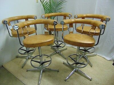 Vintage Mid Century Modern Bar Stools by Daystrom -Set of 5