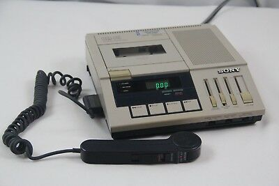 Sony BM-75 Dictator Transcriber Cassette Player w/ Hand Control Unit Mic Japan