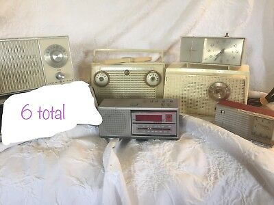 VINTAGE RCA VICTOR TUBE AM CLOCK RADIO Zenith GE Westinghouse And More Lot Of 6
