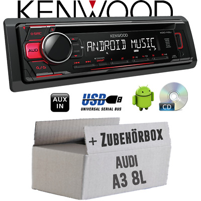 Kenwood radio per AUDI A3 8L Rosso CD/MP3/USB android-steuerung AUTO