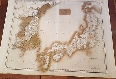1815 John Thompson's Map of Corea and Japan large
