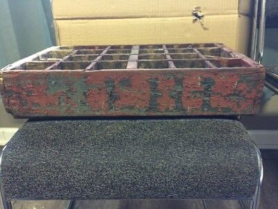 Vintage Nehi Soda Early Wooden 24 Bottle Crate By Nehi Newberry, South Carolina