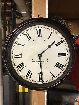 HUGE WORKING No 33 SELF WINDING CLOCK CO.CLOCK WITH 14inch DIAL