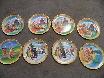 Vintage 1977 McDonald's Plastic Plates set of 8 made in USA
