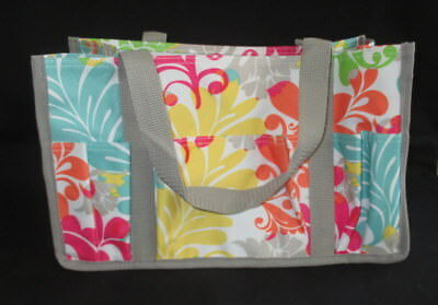 Thirty One Keep It Caddy Island Damask Organizing Tote Bag Small NEW