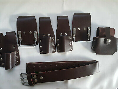 SCAFFOLDING Brown LEATHER 5 in 1 BELT QUALITY ITEM (UK SELLER MASIVE BARGAIN)