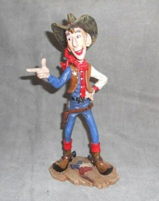 Texas Cowboy Resin Figurine 9""