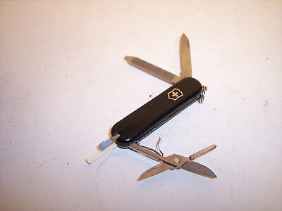 Black Victorinox 53001 Classic SD Swiss Army Knife with Seven Implements
