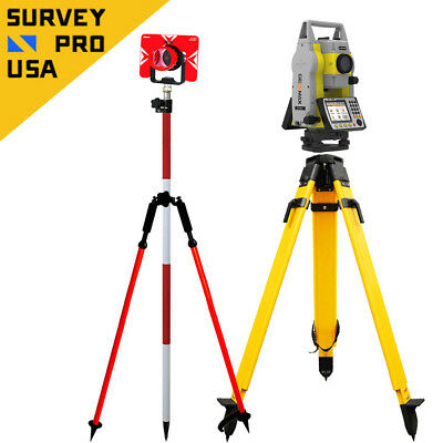 "GeoMax Zoom50 accXess10 1"" 1000m Reflectorless Prism Total Station Package"