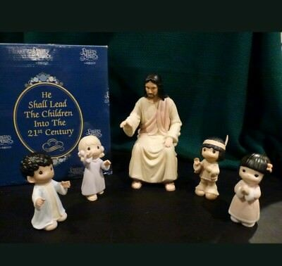 Precious Moments He Shall Lead the Children Into The 21st Century Jesus 127930A