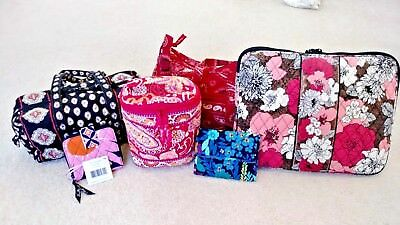 Vera Bradley Lot of 6 Bags/Purses/Wallets/Laptop Sleeve-NWT/EUC Some Vintage