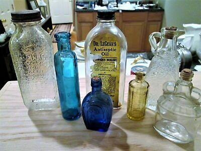 Vintage Colored and Clear bottles from the U.S.(some are for bitters, etc.)